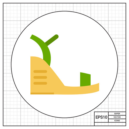 sandalia: Wedge Sandal Icon