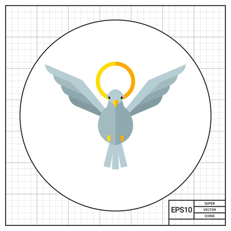 nimbus: White dove and nimbus