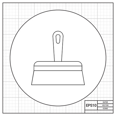 putty knife: Wide Putty Knife Icon Illustration