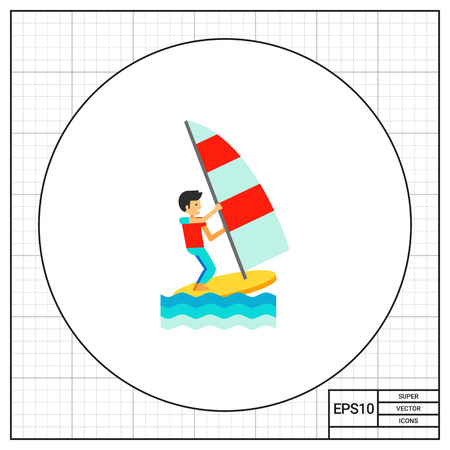 sailboard: Wind Surfing Icon