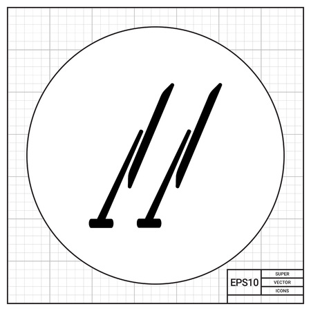 wipers: Windscreen wipers simple icon