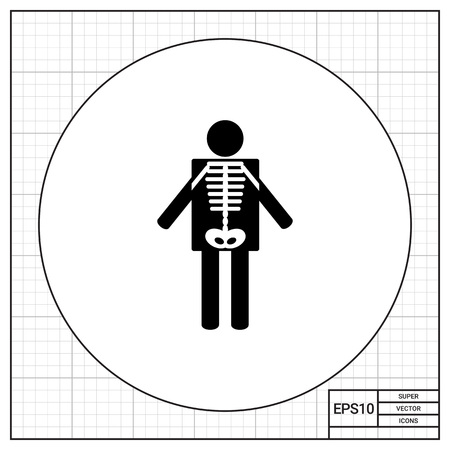radiological: X-ray Concept and Human Radiography Icon