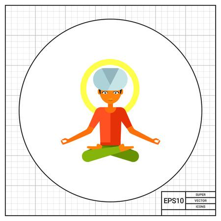 yogi: Yogi Vector Icon Illustration