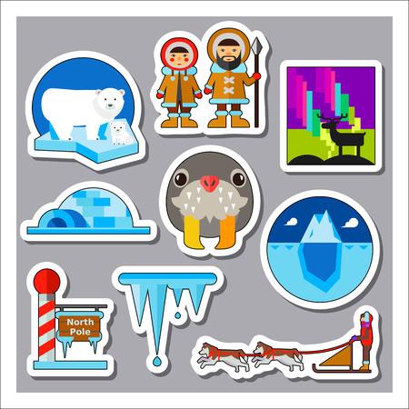 north pole: North pole icon set