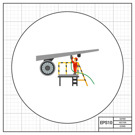 542 Aircraft Mechanic Stock Vector Illustration And Royalty Free ...