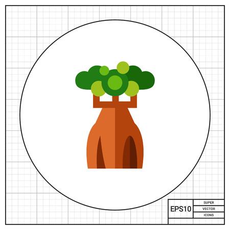 Australian bottle tree icon