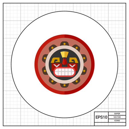 pacific northwest: Canadian native mask icon Illustration