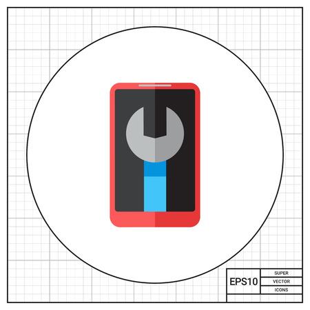 cellphone: Cellphone maintenance icon Illustration