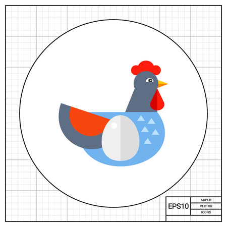 aviculture: Hen with egg as aviculture concept icon