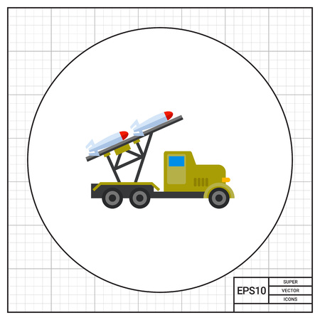 launcher: Mobile military rocket launcher icon