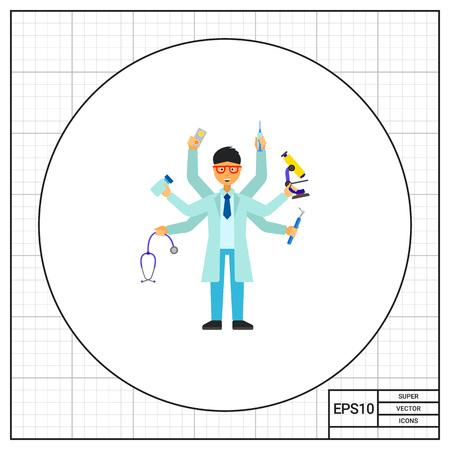 practitioner: Multitasking practitioner icon