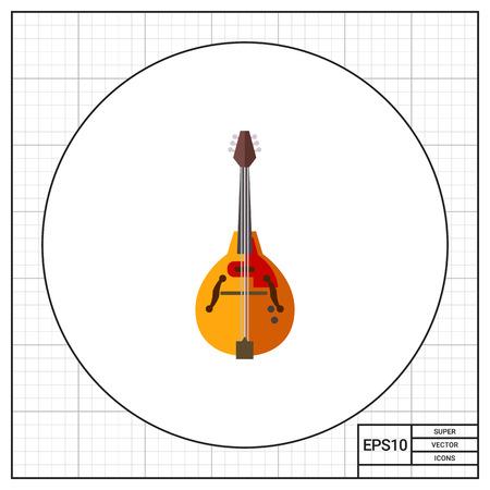 Mandolin musical instrument icon Stock Photo