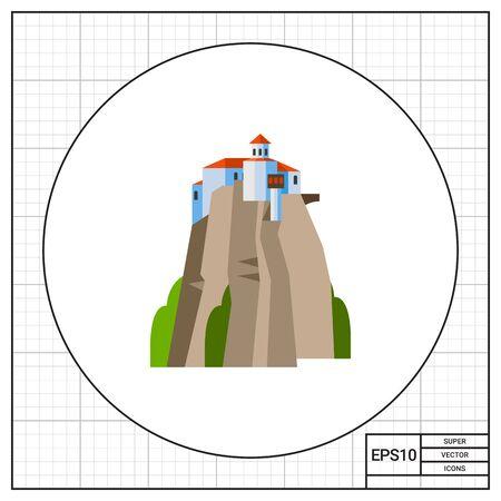 monasteri: Meteora Monasteries on hill icon