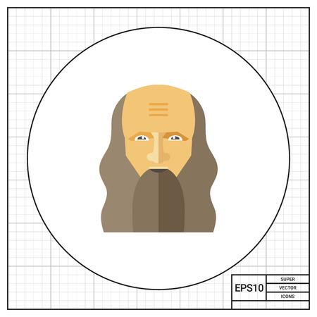 leonardo da vinci: Portrait of Leonardo da Vinci icon
