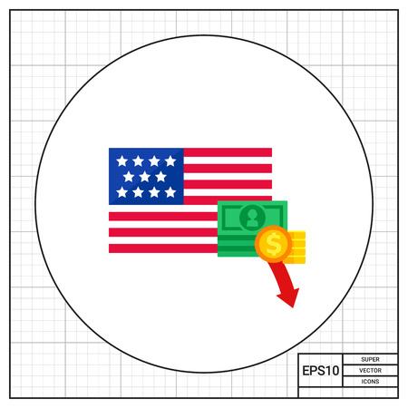 crisis economica: Economic crisis in America icon
