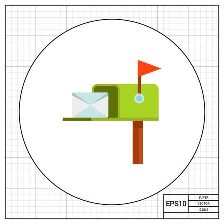 Mail Box Post Vector Icon Ilustração Vetorial