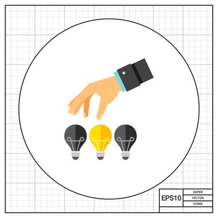picking: Picking up Great Idea Icon Illustration