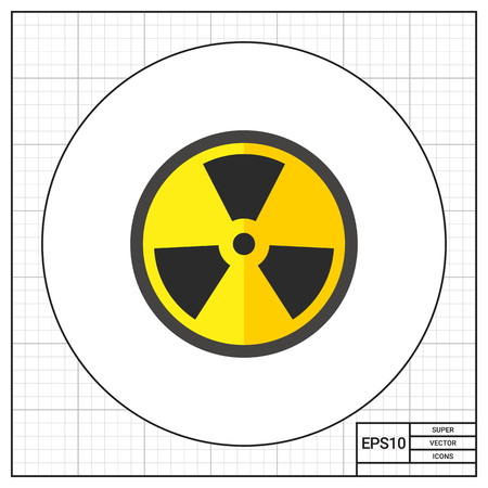gamma radiation: Radiation Flat Icon