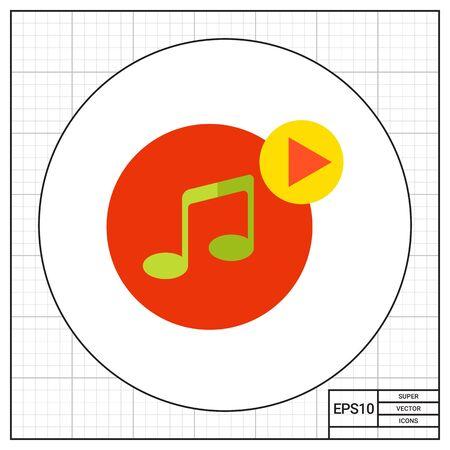 audio icon: Play audio icon Illustration