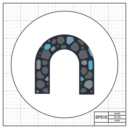 stone arch: Stone Arch Vector Icon