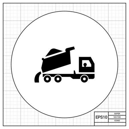 unloading: Unloading dump truck