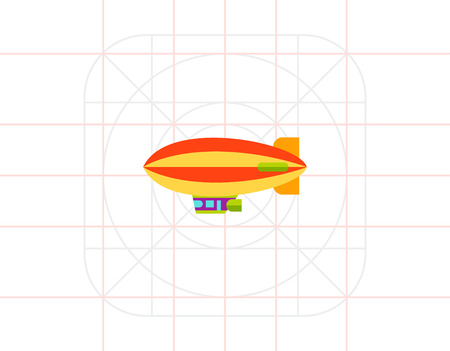 luftschiff: Airship Vector Icon Illustration