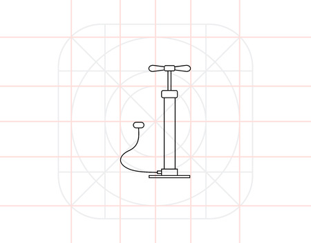 inflating: Air Pump Icon Illustration