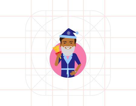 handbell: African American man holding handbell