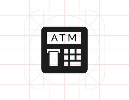technology transaction: Automatic teller machine icon