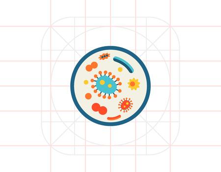 petri: Bacteria in petri dish