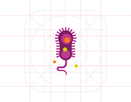 flagella: Bacteria with flagella icon