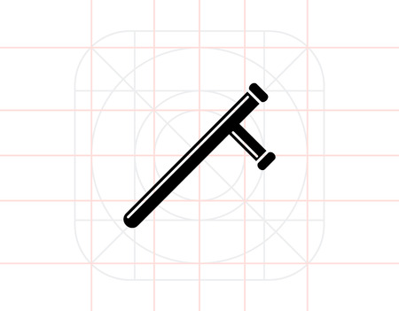 baton: Baton simple icon Illustration