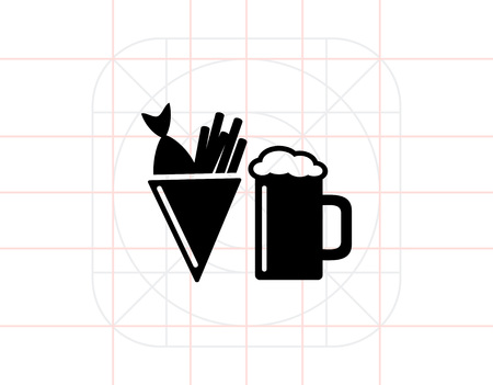 Beer, Fish and Chips Icon