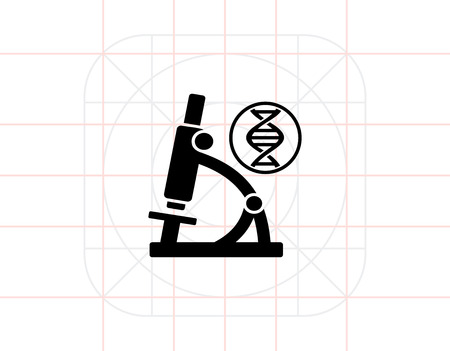 dna sequencing: Biology simple icon Illustration