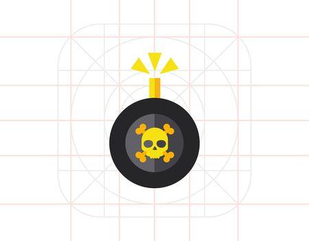 bomb: Bomb Vector Icon