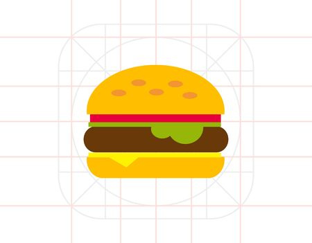 sesame: Burger icon Illustration