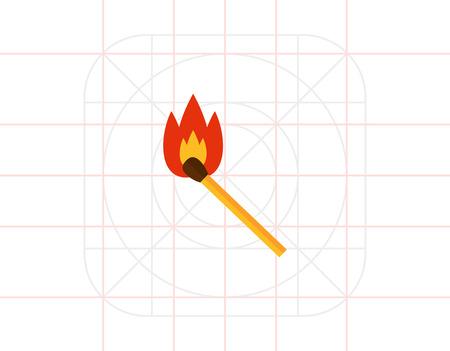 Burning match icon