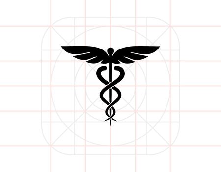 Caduceus Symbol Icon Illustration