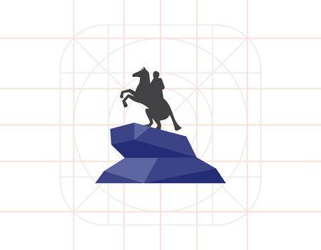 uomo a cavallo: Bronze Horseman statue