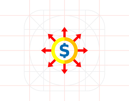 expenditure: Budget Concept Icon with Dollar Sign