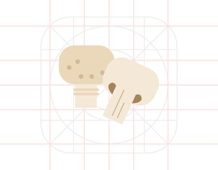 champignon: Champignon and champignon half