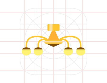 Chandelier icon Illustration