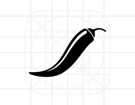唐辛子のシンプルなアイコン