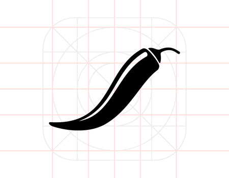 Chili pepper simple icon