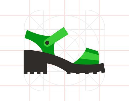 sandalia: Chunky Sandal Icon