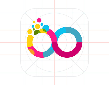 infinity sign: Colorful Infinity Sign Icon