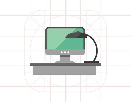 computer: Computer desk Illustration