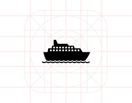 to spend the summer: Cruise Liner Icon