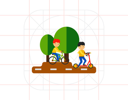 park: Cycling in Park Icon