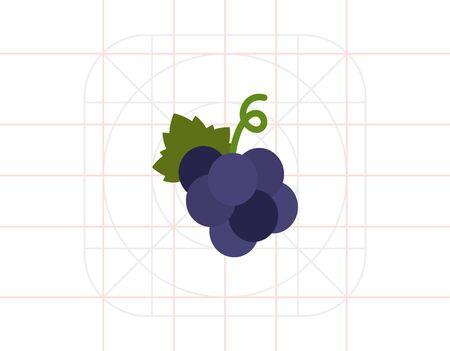bunch: Dark grape bunch icon Illustration